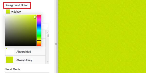 パターンの配色設定