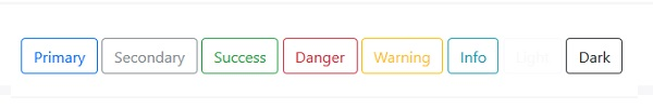 Bootstrapアウトラインボタン例