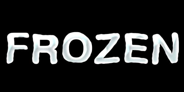 透明に近い氷の文字