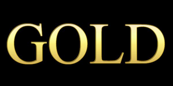 ゴールド調の文字が完成