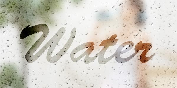 曇りガラスに文字を書く
