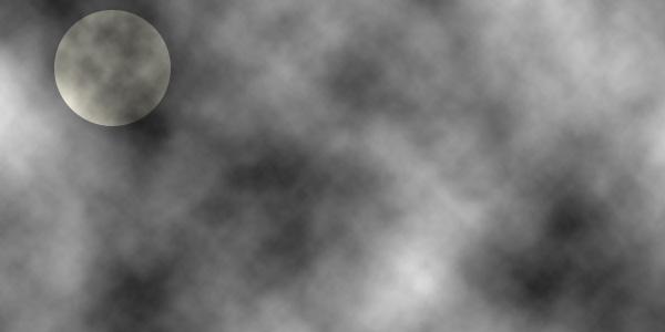 月を配置する