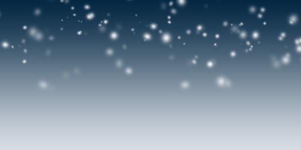 ブラシを使った雪の表現
