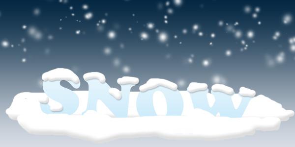 雪が積もった文字のエフェクト