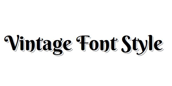 CSSでヴィンテージ風の文字にする