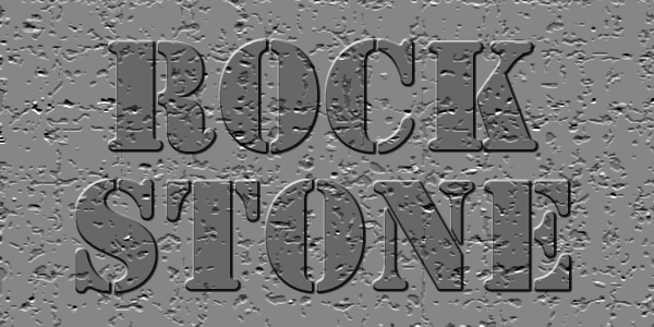 石テクスチャを使った文字加工