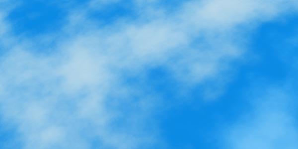 空と雲のコントラストを上げる
