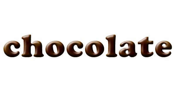 サテンを使ってチョコレートの質感を出す
