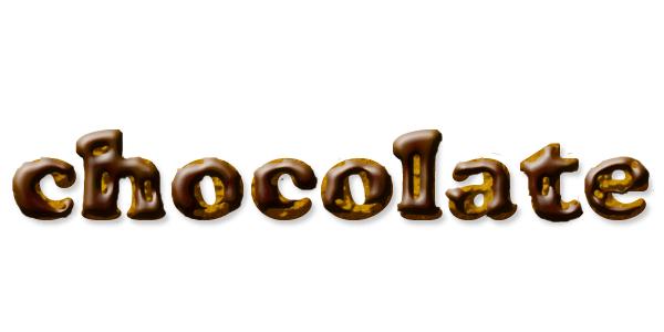 チョコレートクッキーのような文字を作る