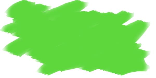 Photoshopのブラシ「水彩平筆」を使って絵の具を表現