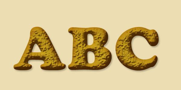 クッキーに立体感を出す