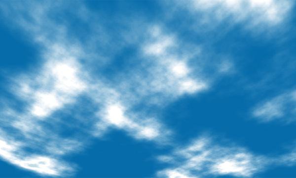 遠近法を使って自然な空の感じに仕上げる